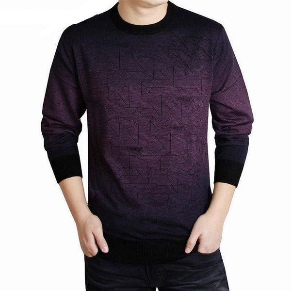 Men Brand Clothing Mens Sweaters Fashion Print Hang Pye Casual Shirt Wool Pullover Men Pull O-Neck Dress T