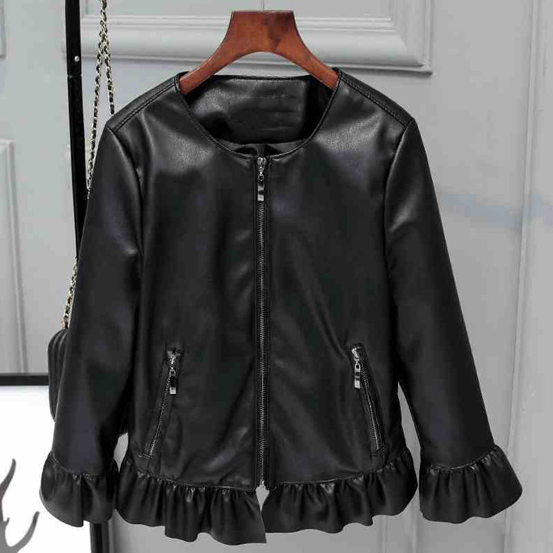 e3a5f9cfd Women Faux Leather Jackets With Butterfly Sleeve European Appear Brand  Clothing Women Faux Leather Suede Jackets For Women