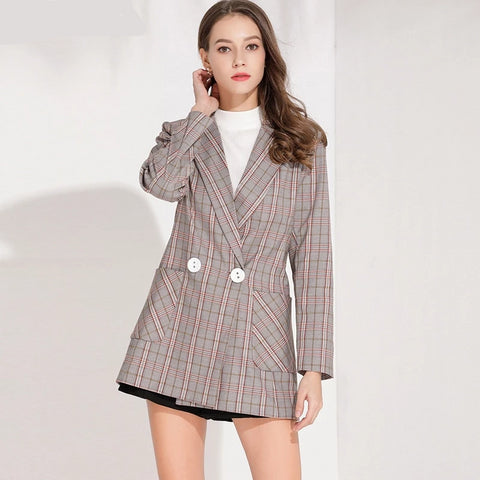 Long Sleeves Office Suit Jacket Abrigos Women Coat Femme Hiver