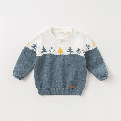 Autumn knitted sweater infant baby boys long sleeve pullover kids toddler tops children knitted sweater