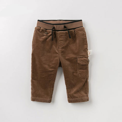 DBJ10997 dave bella autumn baby boy fashion pants children full length solid pants infant toddler trousers