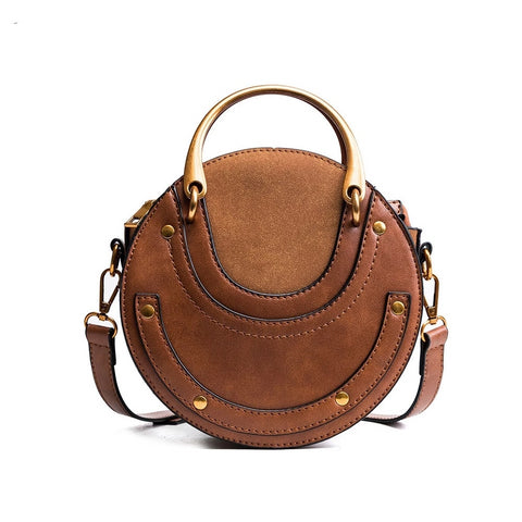 Mini Circular Women Handbag Designer Bags Famous Brand Women Bags Ladies Solid Round Shoulder Bag