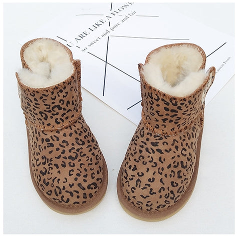 Winter Australia Baby Girls Snow Boots Warm Sheepskin Leather Fur Baby Boots Waterproof Infant Boot Boys Bootie Shoes Non-slip