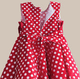 Summer Girl Dress with Hat Red Dot Fashion Bow Girls Dresses Casual A-line Kids Clothes robe fille enfant 3-8T