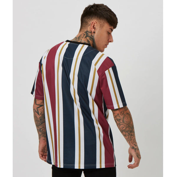 New Men Short Sleeve T-shirts Stripe Gyms Fitness Workout Clothing Male Casual Fashion white red black Tees Tops