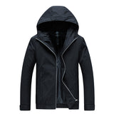 Jacket Men New Casual Solid Hooded Jackets Male Fashion Zipper Outwear Slim Fit Spring Autumn Clothing High Quality