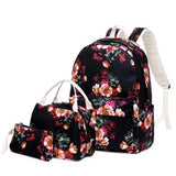 3pcs/set style children school bags for girls cute cherry printing school backpack set clutch bag