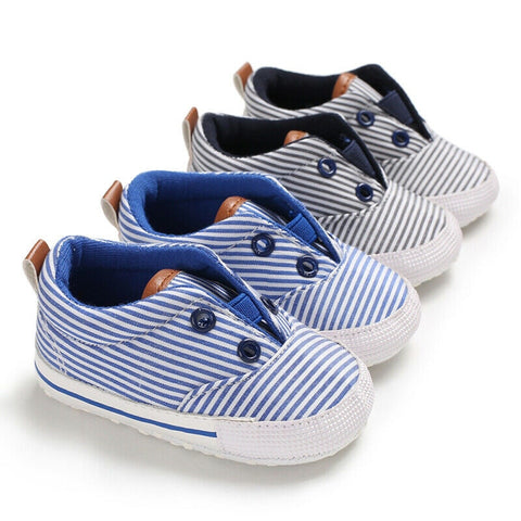 Classic Sports Sneakers Newborn Baby Boys Girls First Walkers Canvas Shoes Infant Toddler Soft Sole Anti-slip Baby Casual Shoes