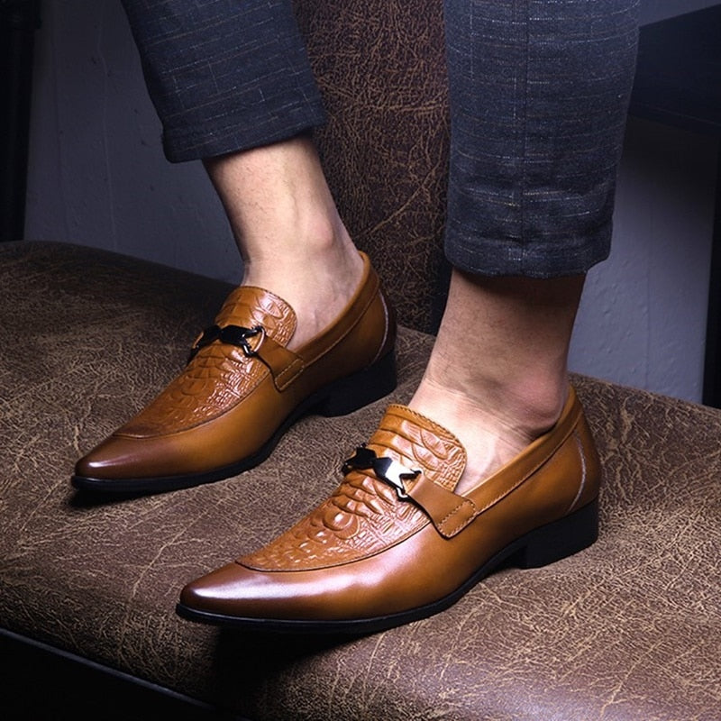 Men Oxford Shoes Business Office Formal Leather Spring Summer Pointed Work Dress Wedding Shoes