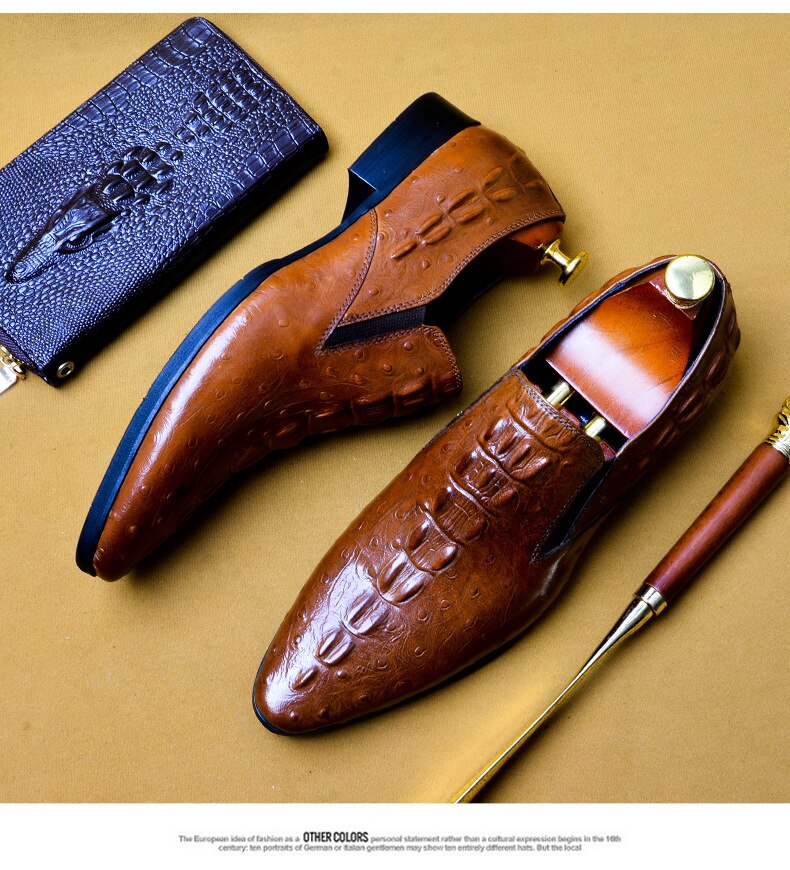 mens leather shoes genuine leather oxford shoes for men luxury dress shoes slip on wedding shoes leather