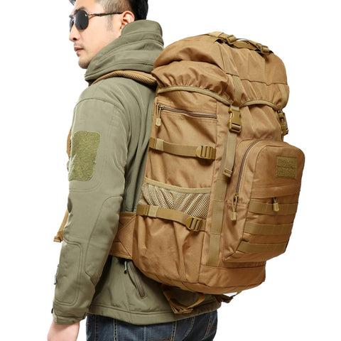 50L Large Capacity Man Military Tactics Backpack Waterproof  Nylon Army Bag Rucksack Climb Hike Travel Backpacks mochila militar