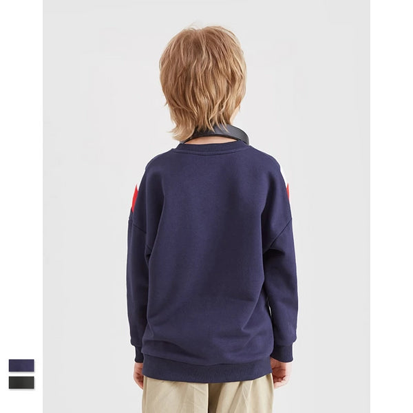Sweatshirt Boy Cotton Casual Sweatshirt Autumn Pullover Boy Sweatshirt Color-block Children Sweatshirt