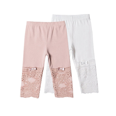 New Kids Girls Leggings Baby Kid Girl flower Toddlers comfort Stretchy Pants Trousers Hot Summer 2colors