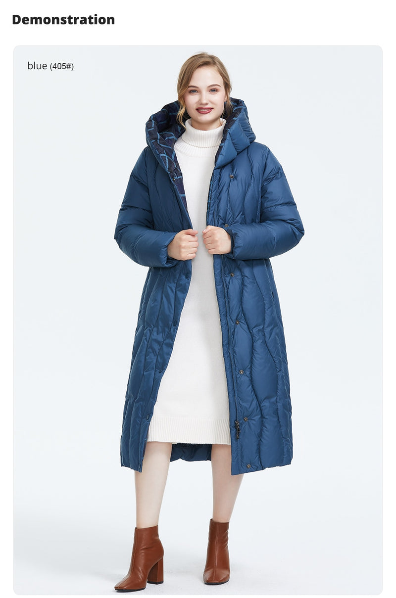 Winter new arrival down jacket women loose clothing outerwear quality blue color  thick cotton winter coat
