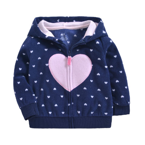 Girls Sweatshirts Hoodies Children Clothing Autumn And Winter Baby girl Polar Fleece Tops Kids Cute Rabbit Hooded Coat