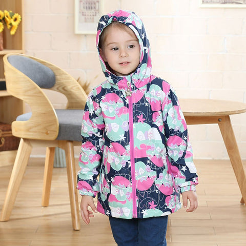 Waterproof Windproof Baby Girls Jackets Child Coat Children Outerwear Warm Polar Fleece Hooded For 3-12T Winter Autumn