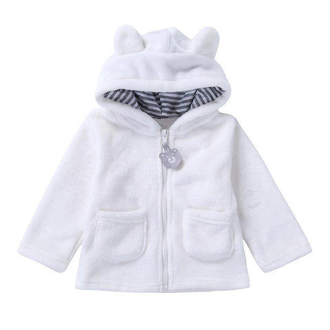 Infant Girls Coats Autumn Winter Thick Jackets Girls Warm Hooded Outerwear Coat Newborn Clothes Baby Cute Coat N30