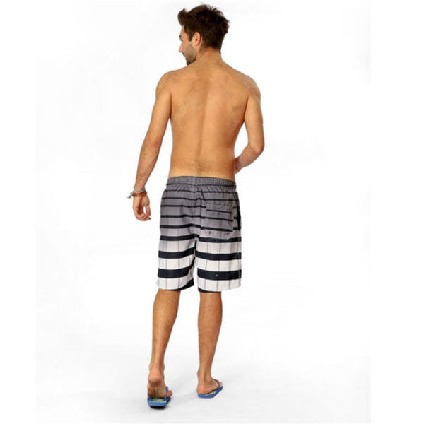 Bermuda Quick Dry Surf Shorts Striped Mens Shorts Board Beach Short Bermuda Large Size Soft Male Clothes