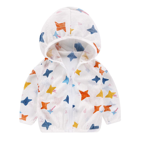 Kids Coat Sun Protection Clothes Baby Clothing Cartoon Girls Boys Jackets Infant Summer Spring Outwear Hooded Coat 1-6T