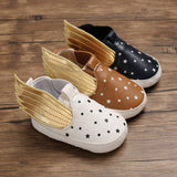 Baby Shoes Casual Walking Shoes Autumn Baby Boy Girl Anti-Slip Wings Design Sneakers Soft Soled First Walkers