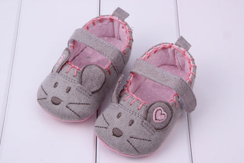Newborn Baby Girls Shoes Toddler Canvas Animal Pattern Soft First Walkers Princess Baby Shoes For Girl Boy Infant Shoes 3 size