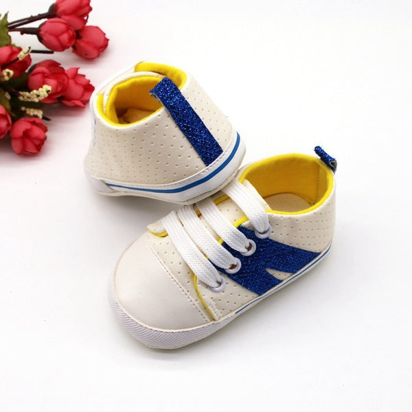 Toddler Sneakers Anti-Slip Infant First Walkers Baby Boys Girls Shoes Sports Boy Shoes Side Stripes