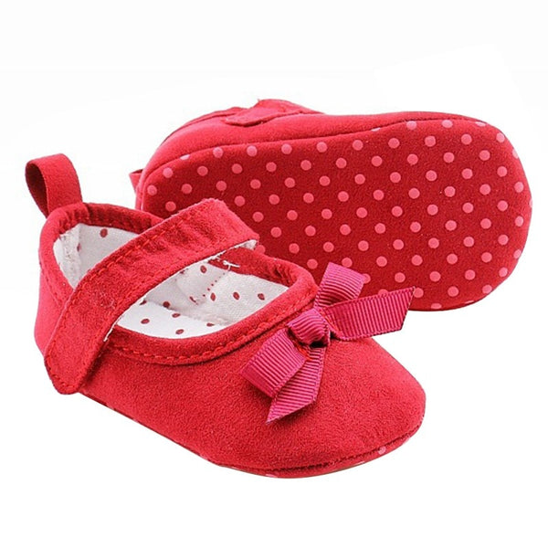 Princess Cotton Shoes new Infantil Baby Shoes Bow Bowknot Baby Girls Shoes Toddler Infant Soft Prewalker Anti-Slip Shoes