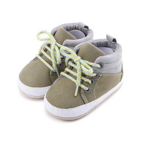 Baby Solid Breathable First Walkers Boy Soft Sole Soft Baby Boots Anti-slip Boots Baby Shoes Sneaker 0-18 M