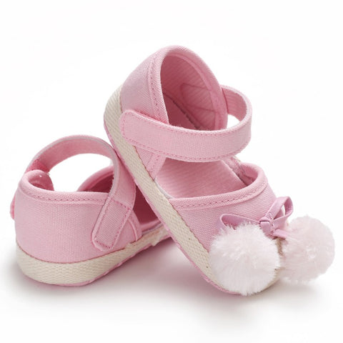 Baby Girls Shoes Ball Cute Fashion Infant Girls Canvas First Walkers Newborn Baby Shoes Soft Sole