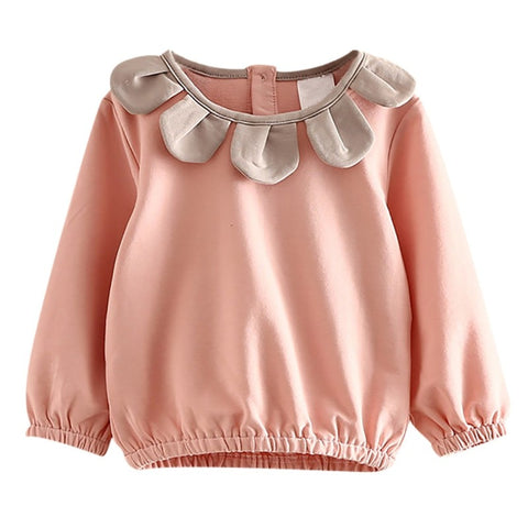 Cotton Girls Flower T-shirt Tops Autumn Kids Girls Clothes Kids Blouse Long Sleeve Children Casual Shirts