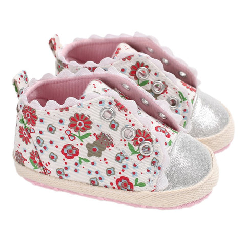 Newborn Toddler Shoes Baby Girl Small Fresh Floral Casual Soft Bottom Shoes Baby The First Walker