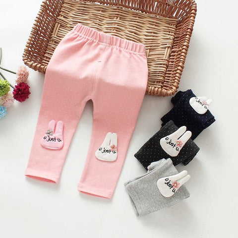 Children\'s Clothing Baby Cotton Pants Children Leggings Trousers Spring Baby Clothes Girl Stretchy Warm Trousers