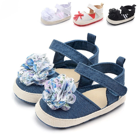 Newborn Shoes Sweet Light Flower Spring Summer Baby Girl First Walker Toddler Soft Soled Pram Crib Shoe