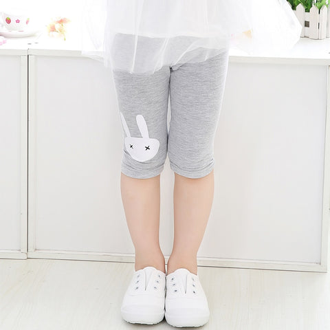 Girl Lovely Summer  Velvet Cropped Pants calf-length girls leggings print  girls pants childrens trousers