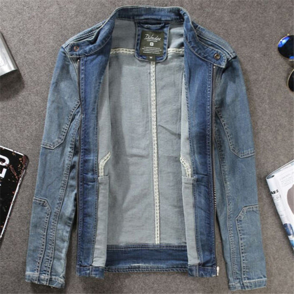 Men'S Fashion Jackets Vintage Denim Jackets Men Blue Chaqueta Hombre Mens Coat Outwear Coat