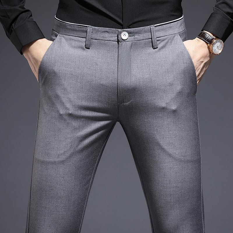 Men Summer Suit Pants Casual Business Pants