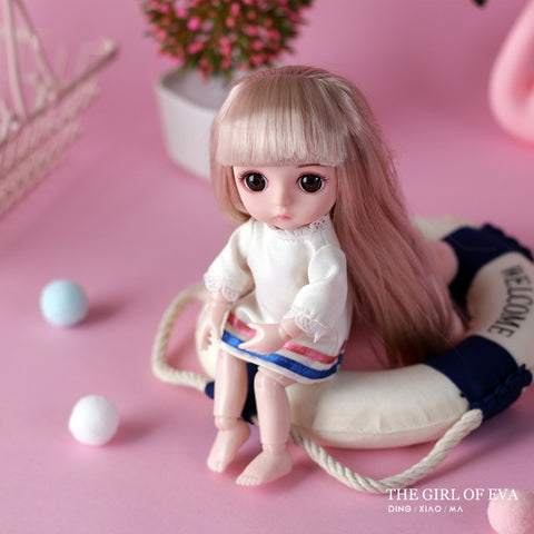 Doll smart girl princess Toy multi-joint Mini toy simulation 3D Doll Cuddle Gift Soft Body For Girl
