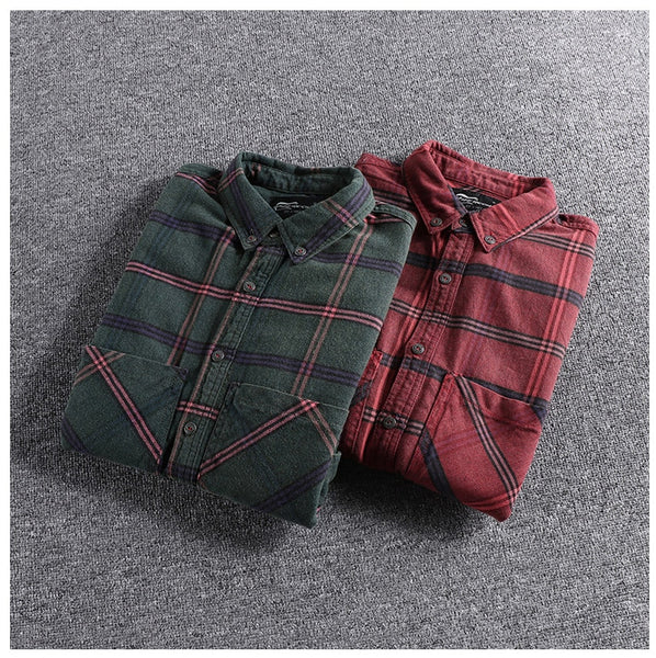 Fall and Winter New Kind of Workwear Big Pocket Trendy tops Men's Long Sleeve clothes plus size high quality blouse on sale