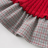 Autumn winter baby girl's princess plaid sweater dress children party dress kids infant clothes