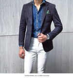Blazer Men Slim Fit 2 Button Blazer Men Autumn Winter Hombre Formal Mens Stylish Blazer