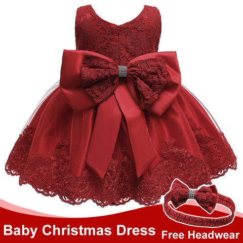 Infant Dress Christmas Baby Princess Party Dresses For Baby Girls Christening Dress 1 Year Birthday Dress Newborn Baby Clothes