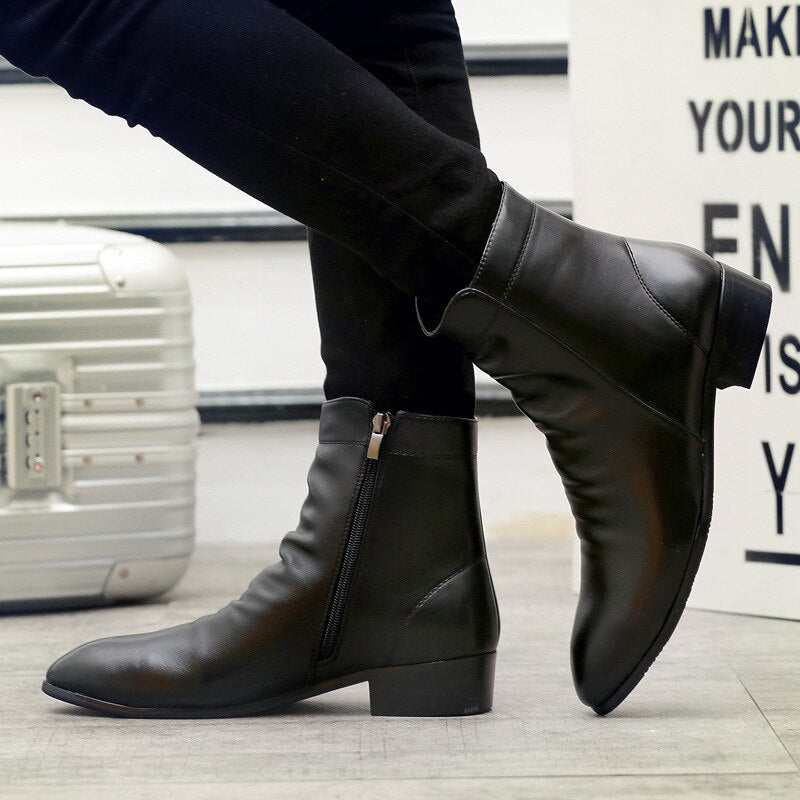 mens black ankle boots purchase 8f73c 37c56