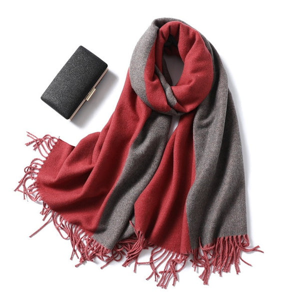 women scarf fashion winter cashmere scarves lady shawls wraps thick warm soft female blanket