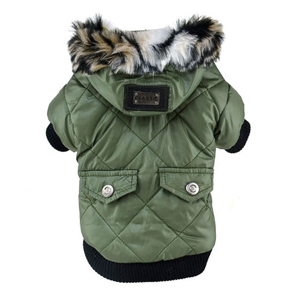 Dog Winter Warm Coat Pets Faux Pockets Cat Puppy Hoodie Jacket Costumes Puppy Dog Cute Warm Coat  XS-XXL Hot AB