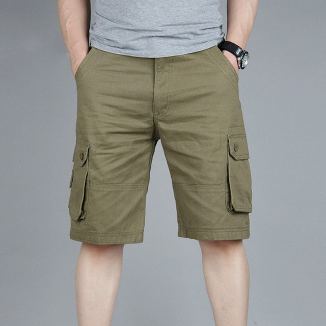 Cargo Shorts Men Summer Casual Multi-Pocket Shorts Men Joggers Shorts Trousers Men Breathable Big Tall