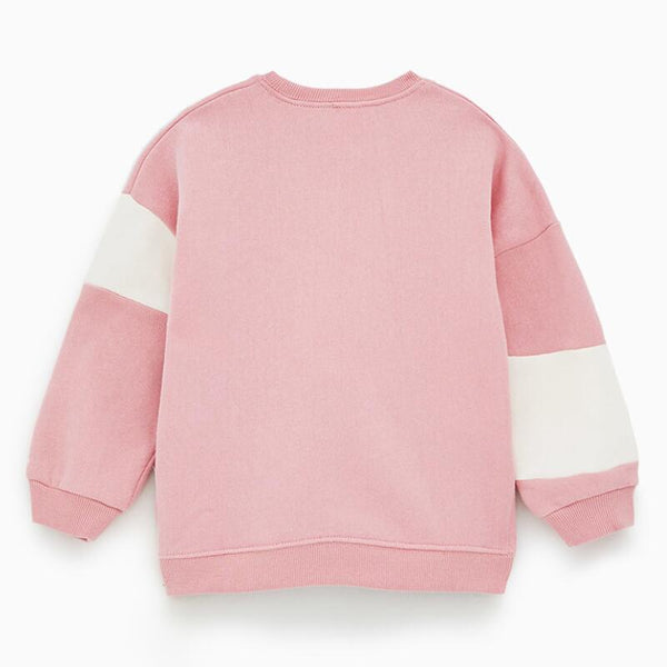 Children brand baby girl clothes autumn girls cotton long sleeve tops contrast color letter print t shirt