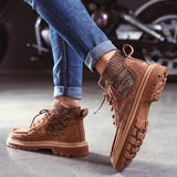 Autumn New Men Boots High Quality Flannel Men Winter Boots High-top Fashion Men Winter Shoes Work Boots