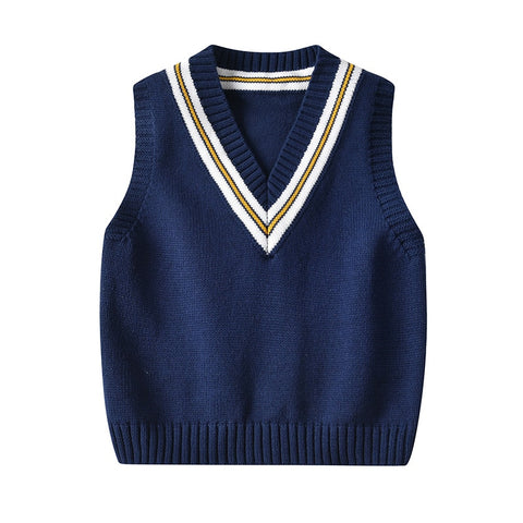 Autumn&Winter Kids Sleeveless Sweaters V-neck Casual Kids Vest Sweater Boy And Girl Knitted Vest For Children