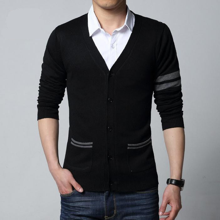 fashion autumn Mens sweaters male V neck winter Cardigan men Knitwear Sweater Slim Casual Sweater brand cardigan masculino