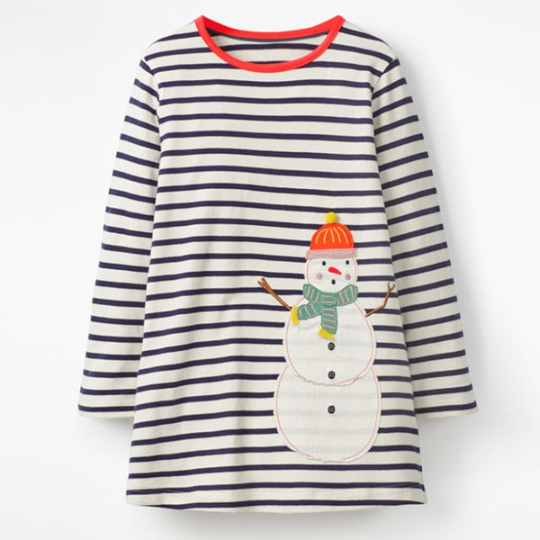 Autumn kids brand baby girls clothes Cotton striped floral toddler girl dresses